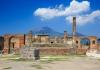 Ruins of Pompeii and volcano Mount Vesuvius, Italy