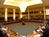 20070703-ROMA-POL: CONFERENCE ON THE RULE OF LAW IN AFGHANISTAN. Una panoramica della Sala delle Conferenze Internazionali, durante l'intervento del Presidente del Consiglio dei Ministri, Romano Prodi. ANSA/CLAUDIO ONORATI/on
